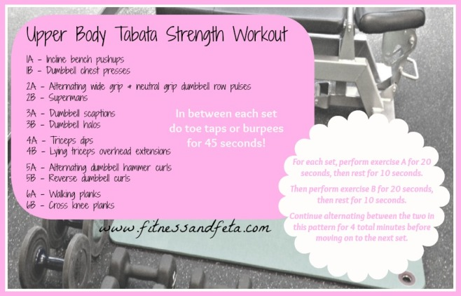 Upper Body Tabata Strength Workout