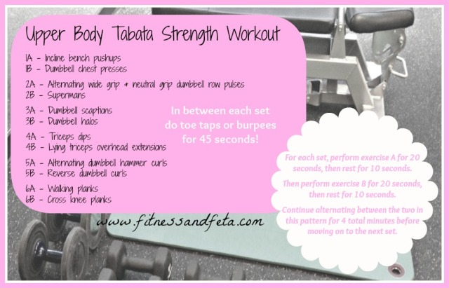 Upper Body Tabata Strength Workout