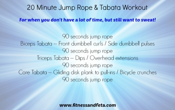 20 minute jump rope & tabata strength