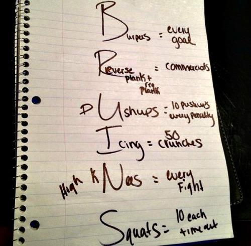 bruins workout