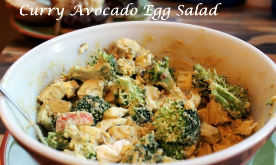 curry avocado egg salad