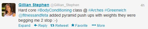 Pyramid Pushup Tweet
