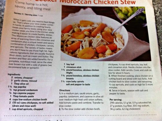 Moroccan stew recipe