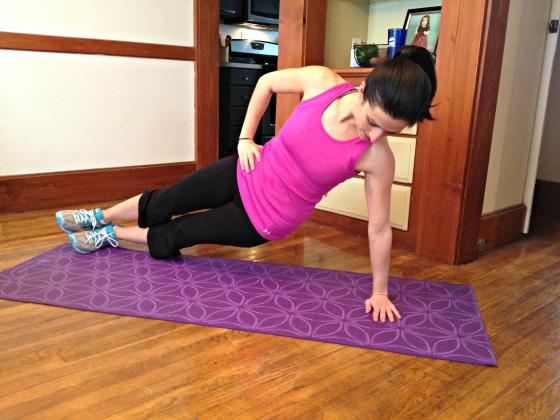 Side planks with hip dips