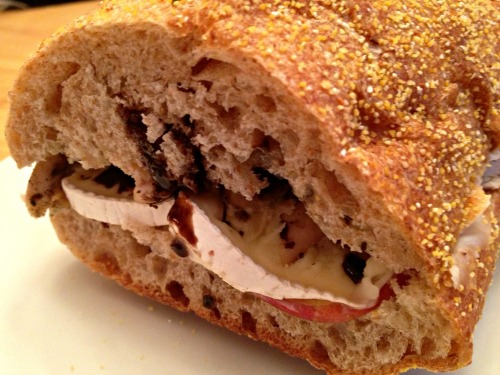 Chicken, Brie, Apple Sandwich