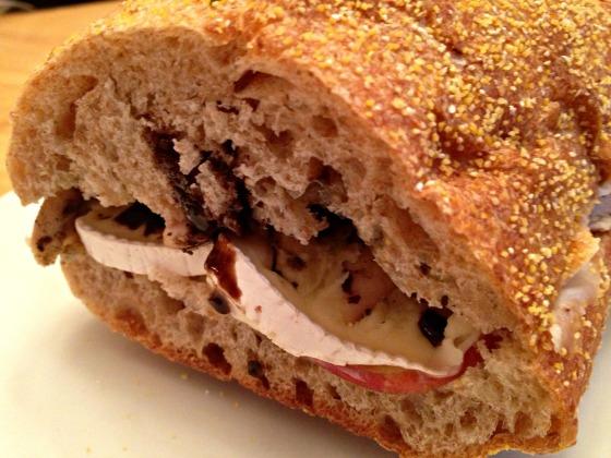 Chicken, Brie, Apple Sandwich