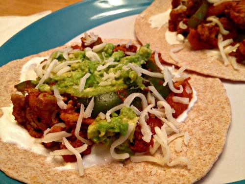 Ground chicken tacos