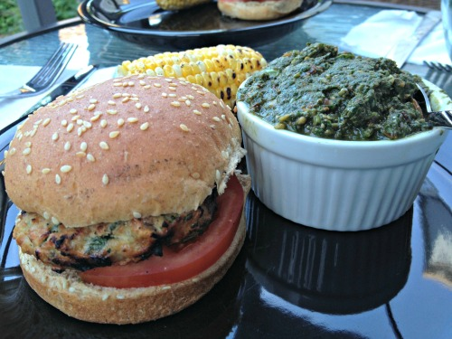 Grilled Chicken Pesto Burger