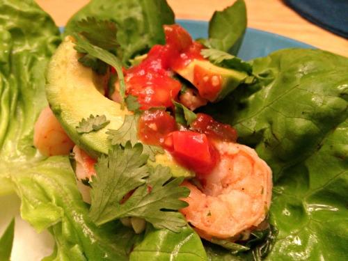 Cilantro lime shrimp lettuce wraps