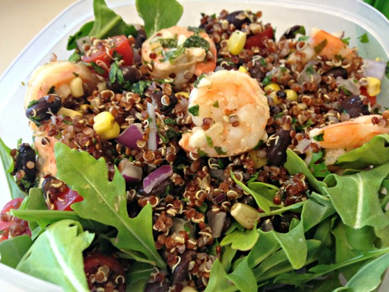 Quinoa Salad on Arugula