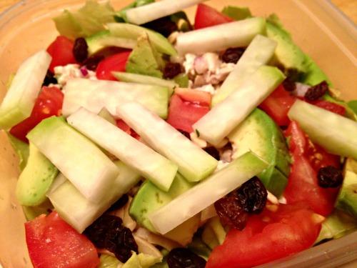Chicken Salad on Greens with Kohlrabi