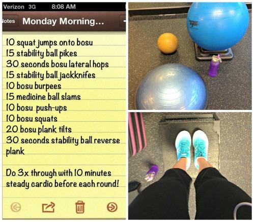 Monday Morning Workout