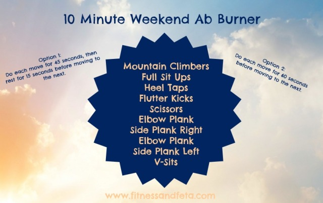 10 Minute Weekend Ab Burner