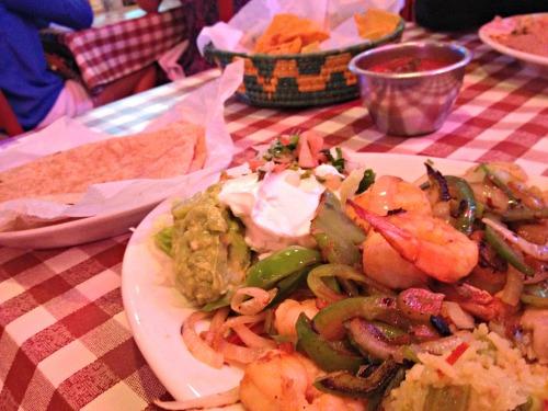 Nuevo Laredo Shrimp Fajitas