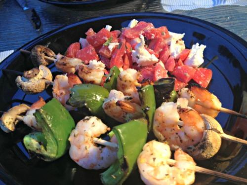 Shrimp and Veggie Skewers