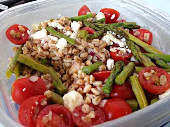 Farro, Tomato, and Asparagus Salad