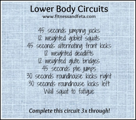 Lower Body Circuits