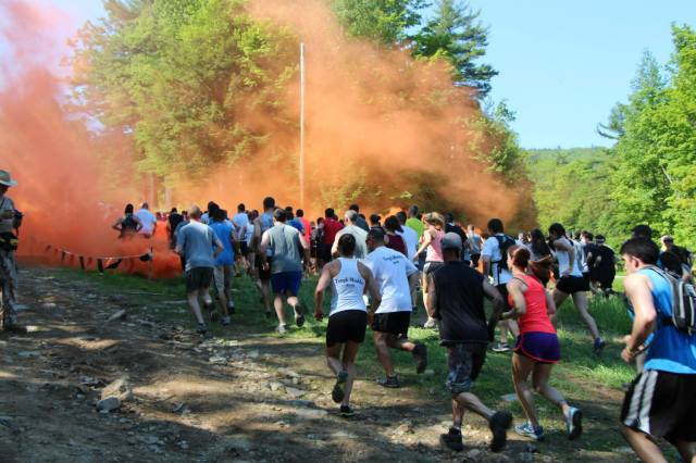 Tough Mudder Orange Smoke