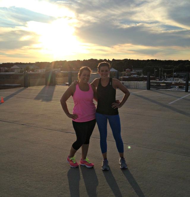Trina and I at CrossFit