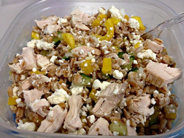 Lemon Chicken Farro Salad