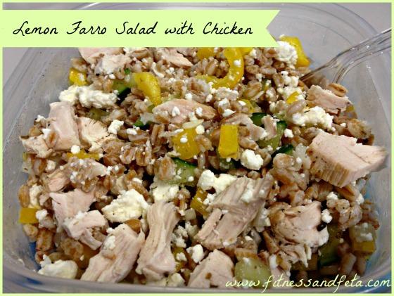 Lemon Farro Salad with Chicken