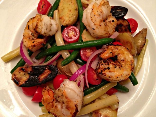 Grilled Shrimp Nicoise Salad