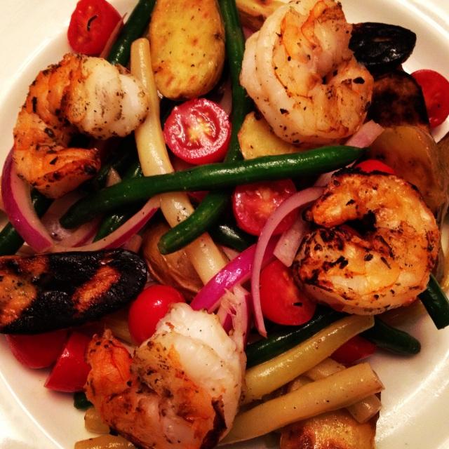 Grilled Shrimp Nicoise Salad