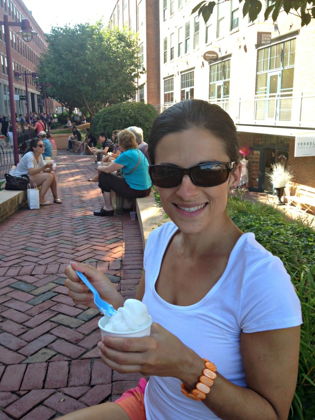 Lemon sorbet at SOWA