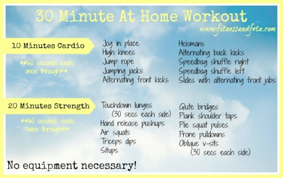30 minute at home workout