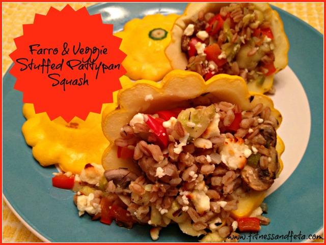 Farro and Veggie Stuffed Pattypan Squash