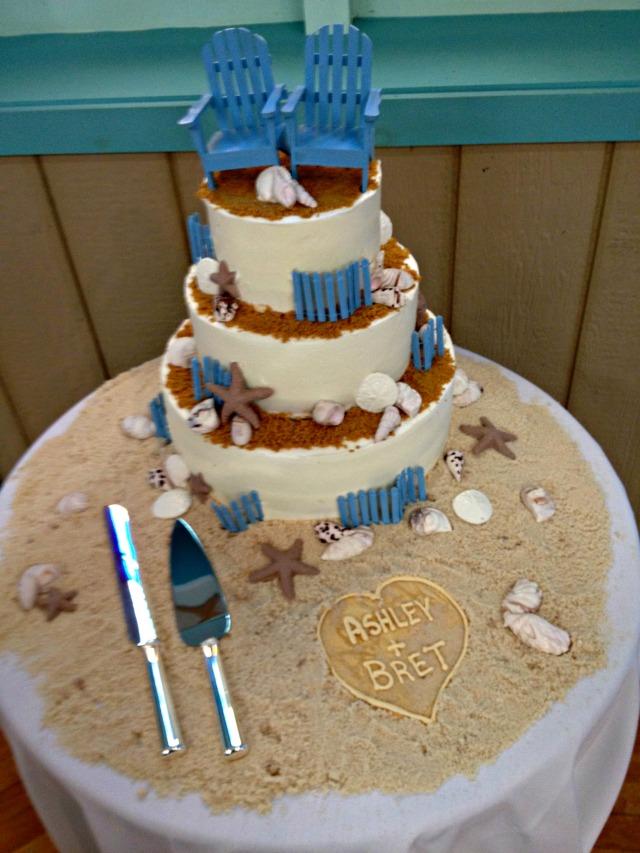 Ashley & Bret Wedding Cake