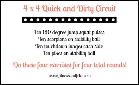 4x4 quick and dirty circuit