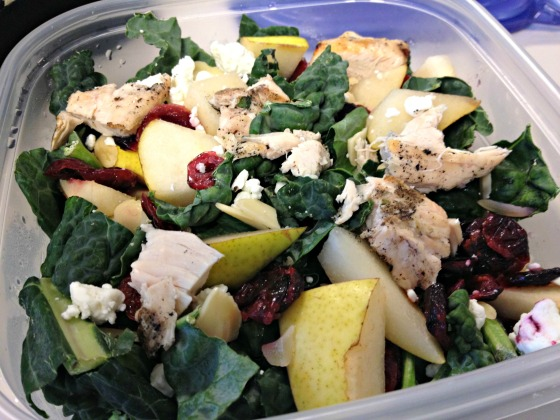 Kale Chicken Pear Salad