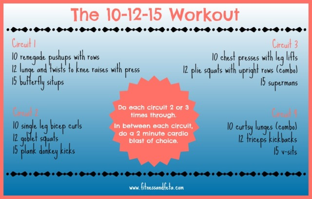 The 10-12-15 workout