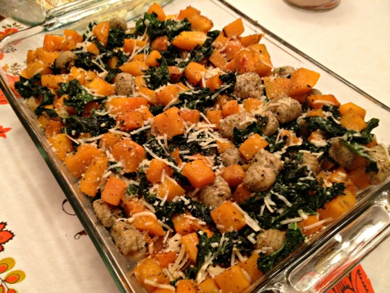 Butternut Squash with Gnocchi and Kale