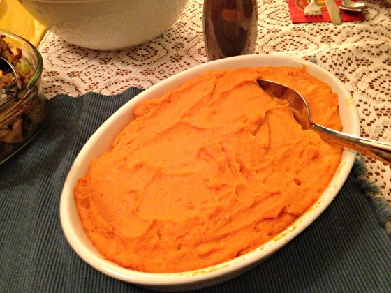 Friendsgiving Mashed Sweet Potatoes