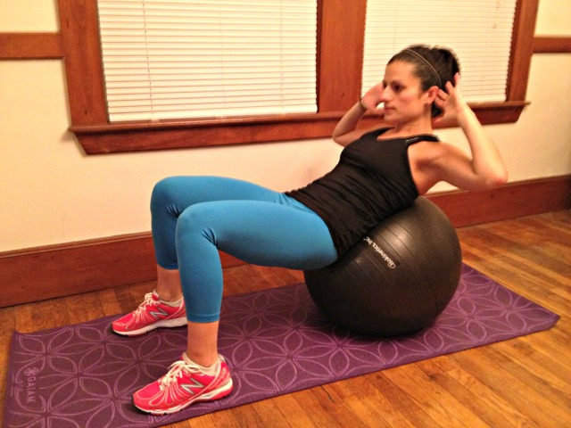 Stability Ball Curl Ups