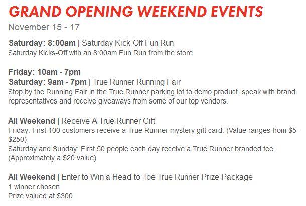 True Runner Weekend Events