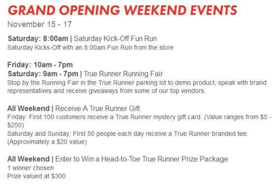 True Runner Weekend Events