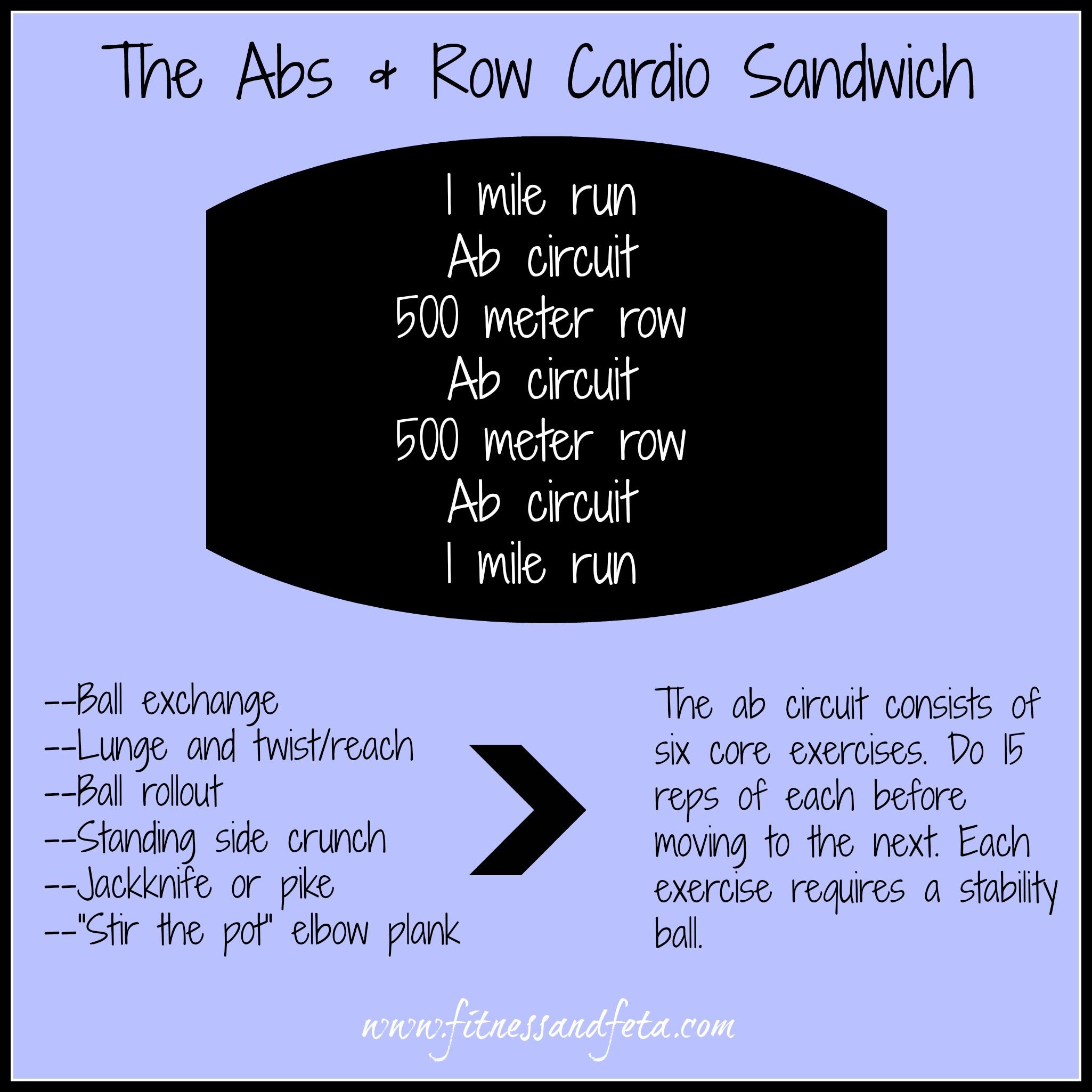Abs & Row Cardio Sandwich