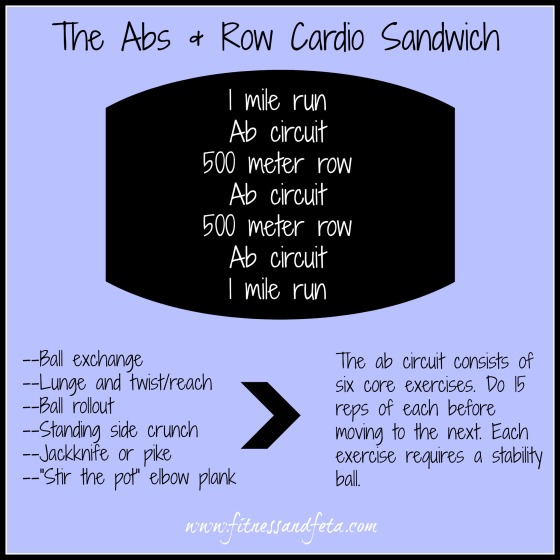Abs & Row Cardio Sandwich