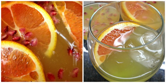Christmas 2013 Champagne Sangria Punch