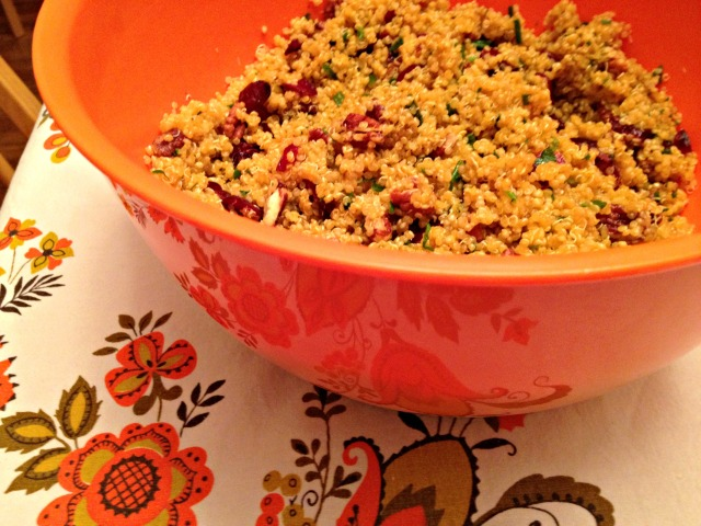 Cranberry and Pecan Quinoa