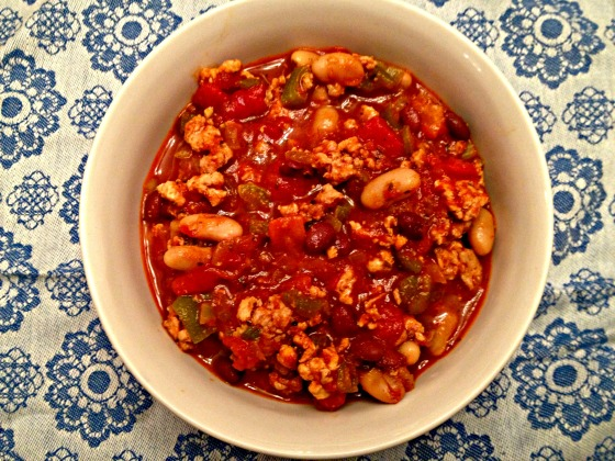Roasted Red Pepper Chili