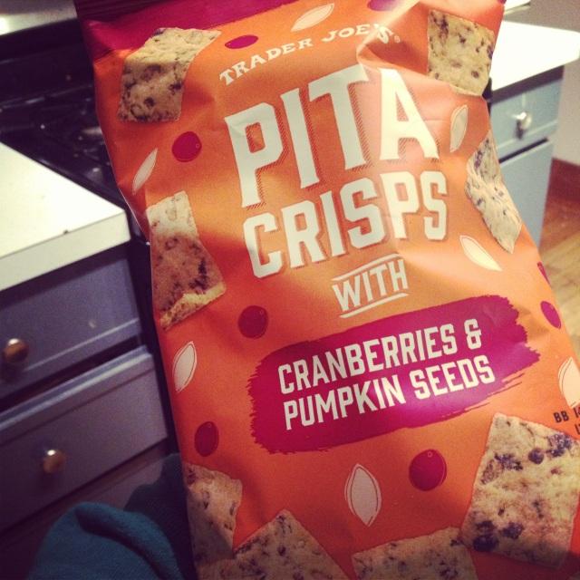 Pumpkin Cranberry Pita Crisps
