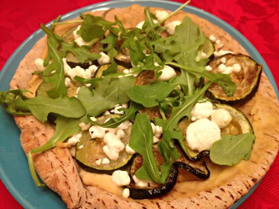 Zucchini pita flatbreads