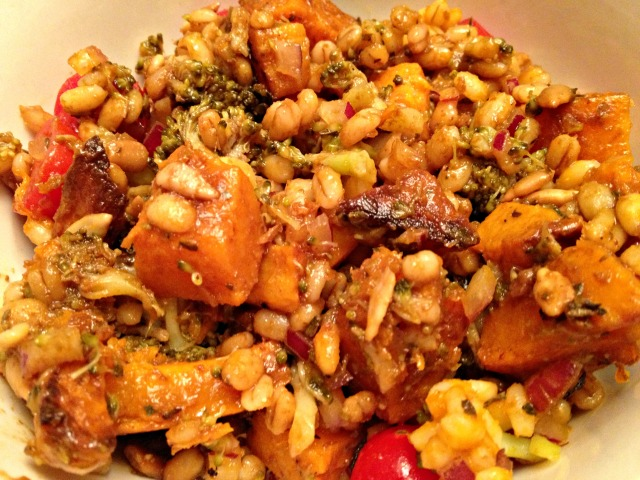 Winter Butternut Squash and Barley Salad