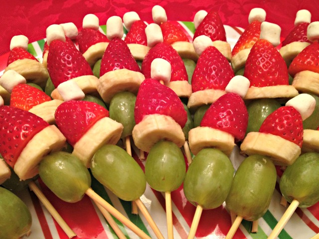 Grinch Fruit Skewers