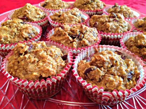 Cranberry Orange Oat Muffins