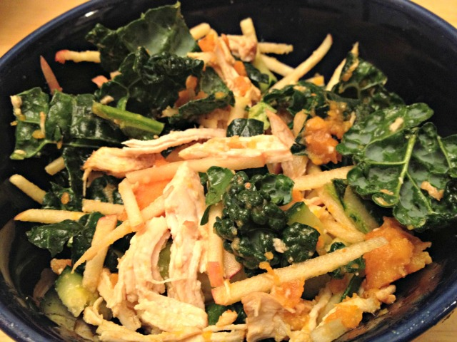 Sesame chicken with kale